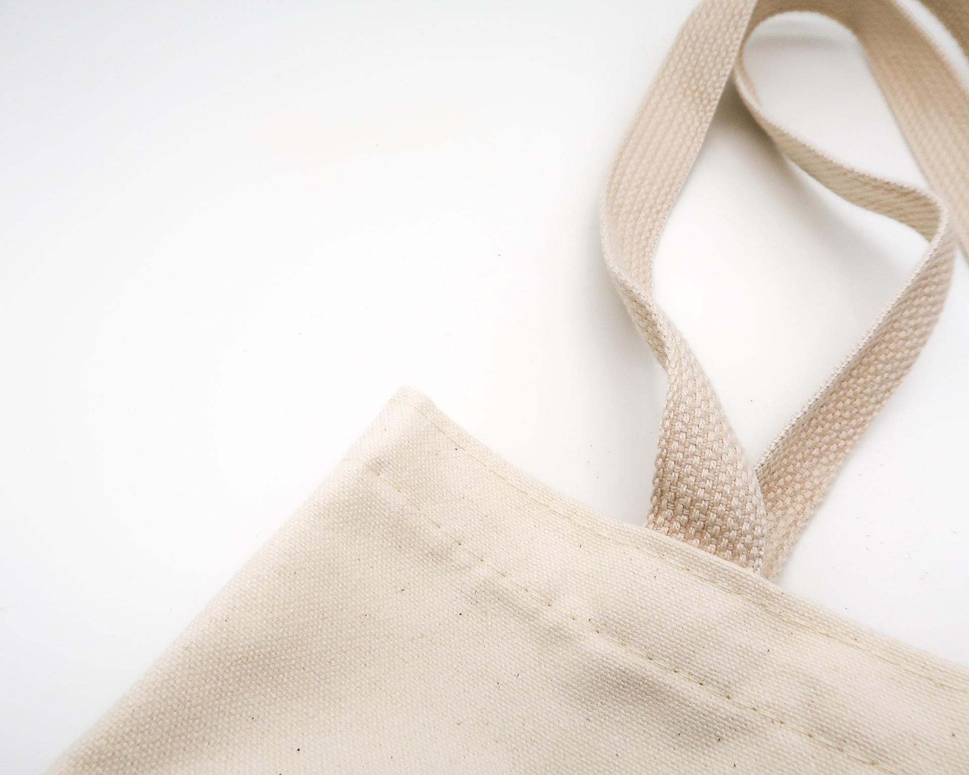 コットン製の土に還るバッグ