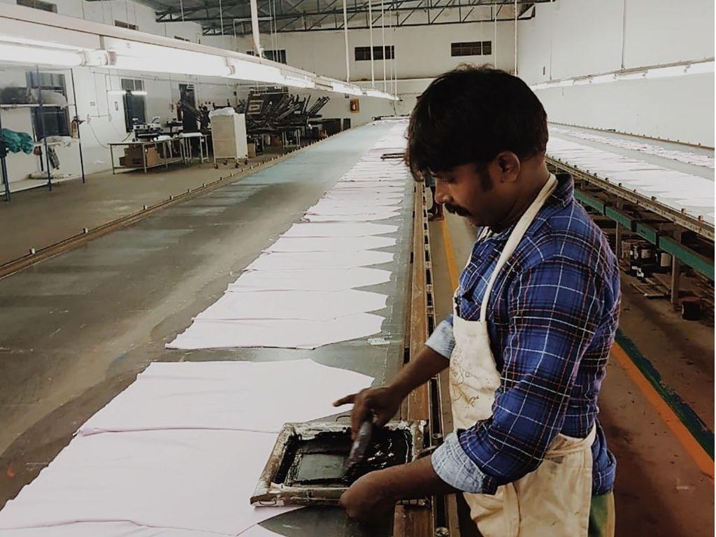 インドの生産工場の写真